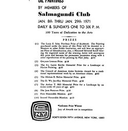 1971 annual exhibition of oil paintings by members of Salmagundi Club by Salmagundi Club New York NY.