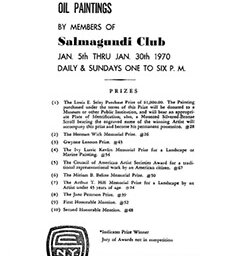 1970 annual exhibition of oil paintings by members of Salmagundi Club by Salmagundi Club New York NY.
